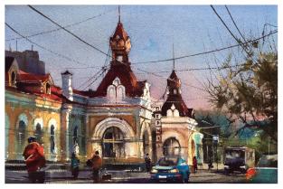 """Открытка Пермь """"Вокзал Пермь I"""""""
