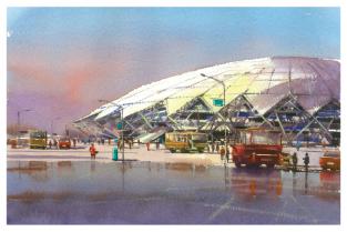 Postcard Russia Samara Football Stadium