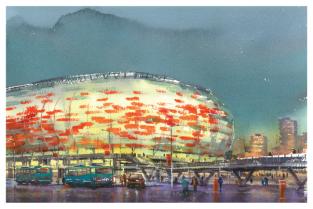 Postcard Russia Saransk Football Stadium