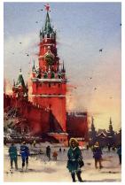 """Москва """"Спасская башня, зима"""""""