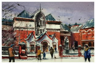"Москва ""Третьяковская галерея, зима"""
