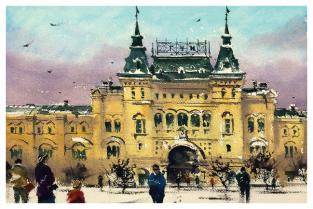 """Москва """"ГУМ, зима"""""""