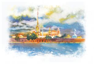 """Открытка Санкт-Петербург """"Петропавловская крепость"""""""