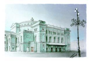 """Открытка Санкт-Петербург """"Мариинский театр"""""""