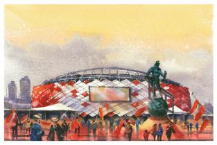 Стадион Москва Спартак Открытие