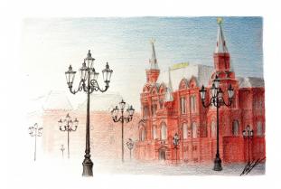 """Открытка Москва """"Исторический музей"""""""