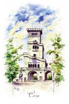 """Открытка Сочи """"Смотровая башня на горе Ахун"""""""
