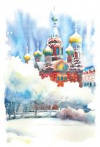 "Открытка Санкт-Петербург ""Храм Спаса-на-Крови, зима"""