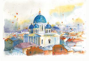 Открытка Санкт-Петербург «Троицкий собор»